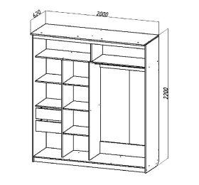 Шкаф-купе № 16 (2м)
