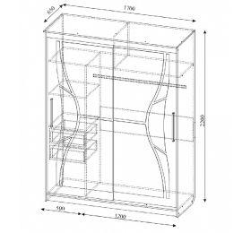 Шкаф-купе № 16 (1,7м)