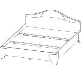 """Кровать """"Лагуна 5"""" (1,6м)"""