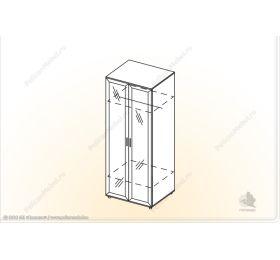 """Шкаф 2х с зеркалом """"Классика"""" ШУ-Z"""