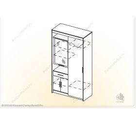 """Шкаф """"Меллиса-К2"""""""